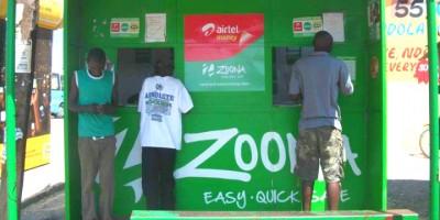 Zoona mobile money kiosk